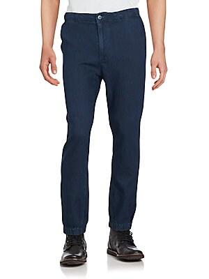 Cotton Blend Solid Pants