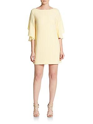 Nicola Flutter-Sleeve Shift Dress