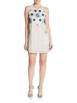 Lola Sequin-Embroidered Dress