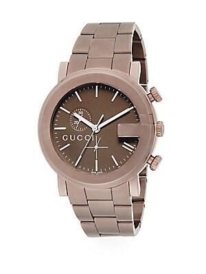 gucci male 211468 g chrono pvd bracelet watch