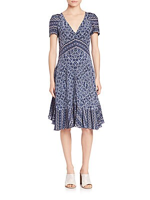 Short Sleeve Paisley Dress