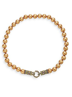 Sole Operator Crystal Beaded Necklace