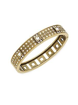 Daily Single Crystal-Encrusted Bangle Bracelet