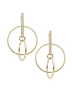 Orbital Hoop Drop Earrings