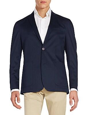 Regular-Fit Stretch-Cotton Sportcoat