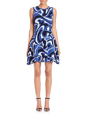 Pop Camo Jacquard Dress