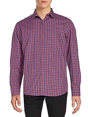 Regular-Fit Clark Jr Check Cotton Sportshirt
