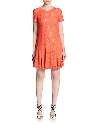 Hayden Floral Lace Drop-Waist Dress