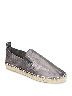 Robin Metallic Leather Espadrille Flats