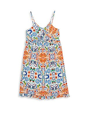 Girls Printed Slip Dress