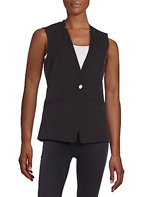 Lux One Button Vest