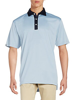 Solid Mesh Contrast Polo