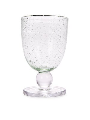 Clear Bubble Glass Goblet