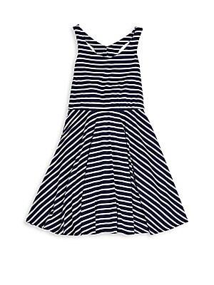 Girl's Sleeveless Striped Dress