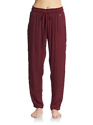 Embroidered Drawstring Pants