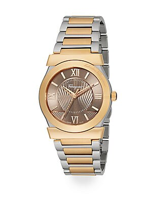 Vega Two-Tone Stainless Steel Watch