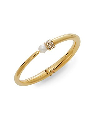 Eclipse Cubo Pearl & Swarovski Crystal Pavé Bangle Bracelet