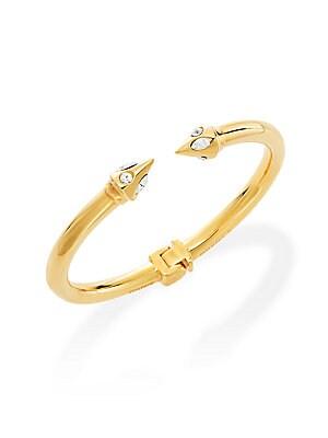 Swarovski Crystals & 24K Rose Goldplated Brass Hinge Bracelet