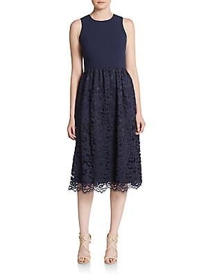 Harlow Lace-Skirt Midi Dress