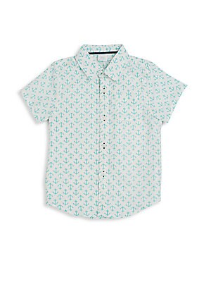 Little Boy's & Boy's Anchor-Print Sportshirt