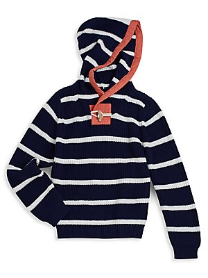 Little Boy's & Boy's Striped Fisherman Hoodie