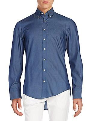Regular-Fit Chambray Cotton Sportshirt