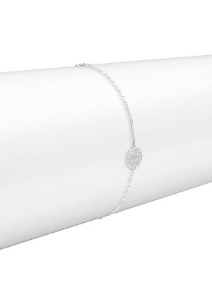 Click here for 14K White Gold & Diamond Pendant Bracelet prices