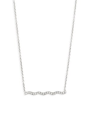 Click here for Wavy Bar Diamond and 14K White Gold Pendant Neckla... prices