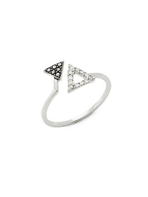 Click here for Triangle Diamond and 18K White Gold Ring prices