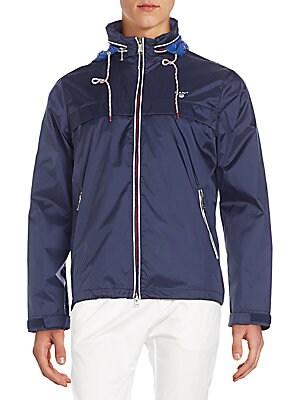 Regular-Fit Hooded Nylon Jacket