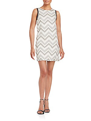 Chevron-Print Shift Dress