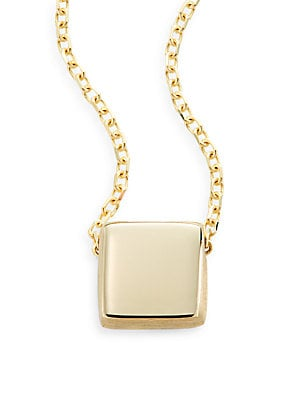 Click here for Yellow Gold Square Pendant Necklace prices