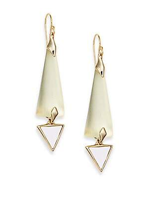 Lucite Geometric Drop Earrings