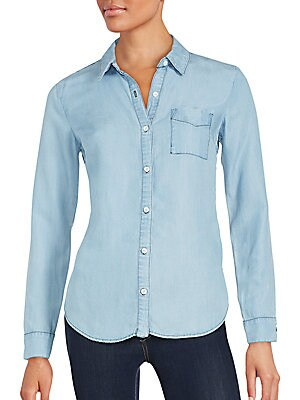 Back-Stripe Chambray Shirt