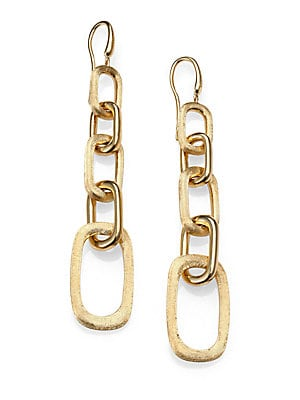 Click here for Murano 18K Yellow Gold Graduated Link Drop Earring... prices