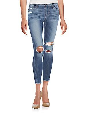 Finn Skinny Ankle Fray Jeans