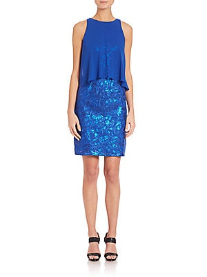 Popover Sequined Dress