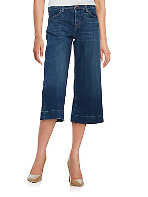 Liza Cropped Denim Culottes