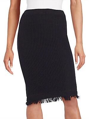 Fringe Knit Midi Skirt
