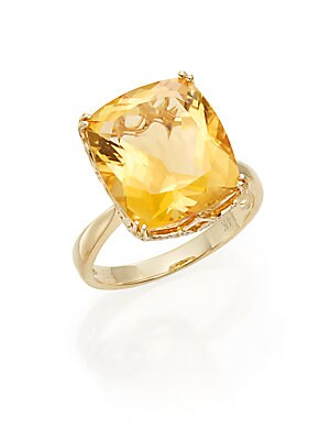 Click here for Citrine & 14K Yellow Gold Ring prices