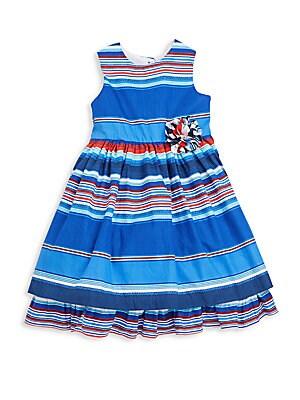 Toddler's & Little Girl's Striped Dress