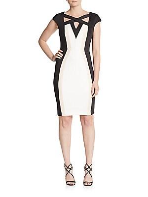 Cutout Colorblock Dress