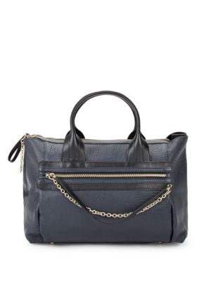 Zoey Leather Satchel See by Chloé