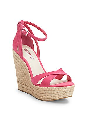 Holly Suede Espadrille Wedge Sandals