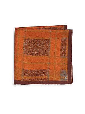 Check Silk Pocket Square