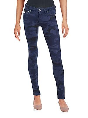 Camo Five-Pocket Skinny Jeans