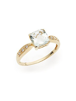 .06 TCW Diamond in 14KT Yellow Gold Ring