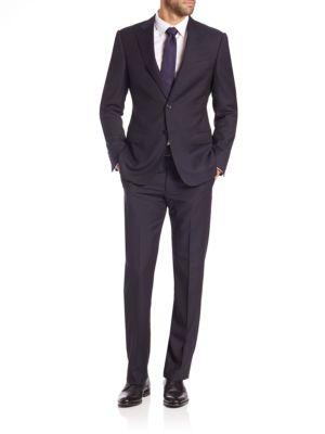 Wool Check Suit Armani Collezioni