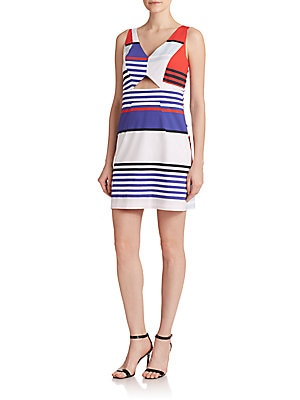 Marina Multistripe Sheath Dress