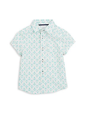 Baby's Anchor-Print Sportshirt